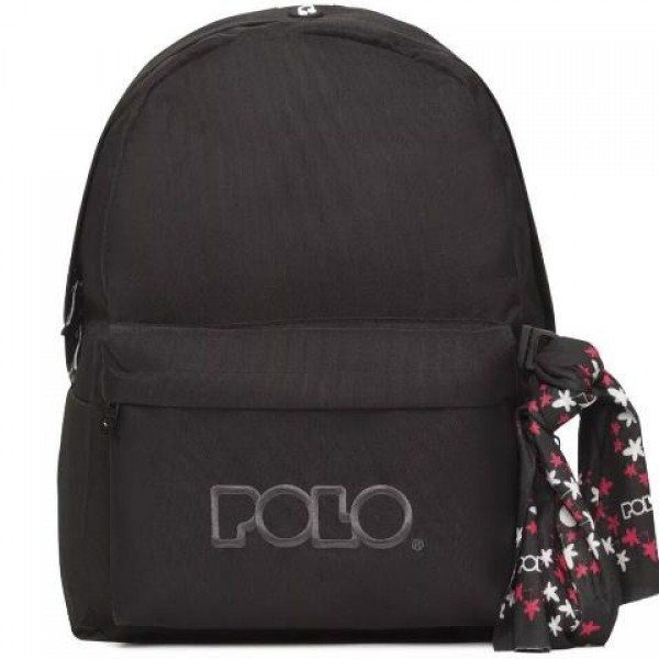 Polo - Backpack With Scarf Black