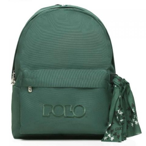 Polo - Backpack With Scarf Green