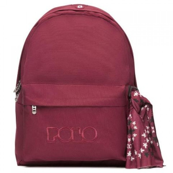 Polo - Backpack With Scarf Βurgundy